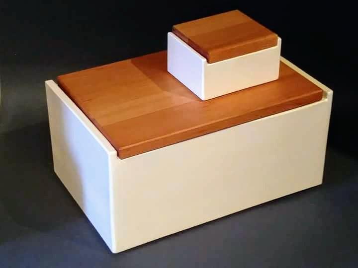 Buttetdose-Holzdeckel